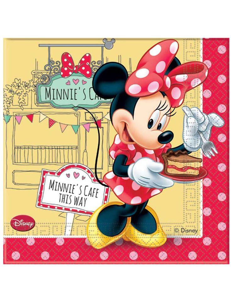 20 tovaglioli di carta Minnie™ su VegaooParty, negozio di articoli per feste. Scopri il maggior catalogo di addobbi e decorazioni per feste del web,  sempre al miglior prezzo!