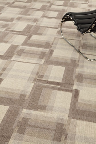 Our Windows collection adds an intriguing geometric element to the floor plane. www.millikencarpet.com