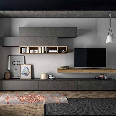 Minimalist 'Anthracite' TV Unit. Beautiful design, high quality materials,. My Italian Living