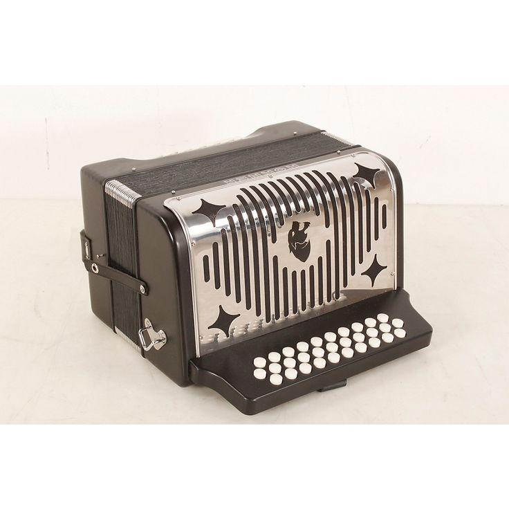 Hohner HA-3100 Panther GCF Diatonic Accordion Matte Black 888366017920