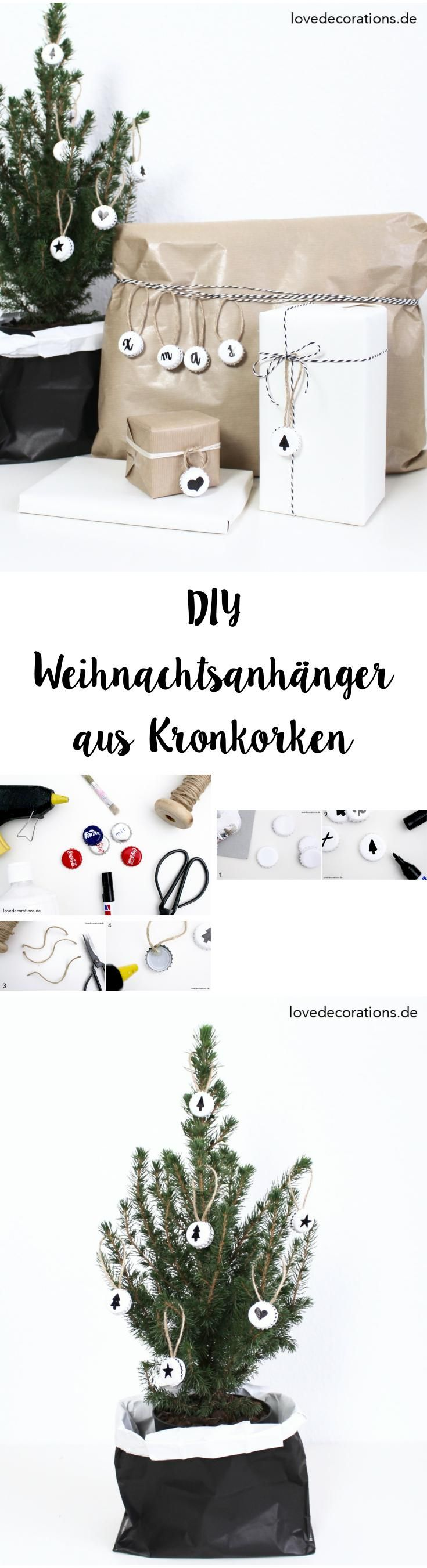 DIY Weihnachtsanhänger aus Kronkorken | DIY Christmas Ornaments made of Crown Cork