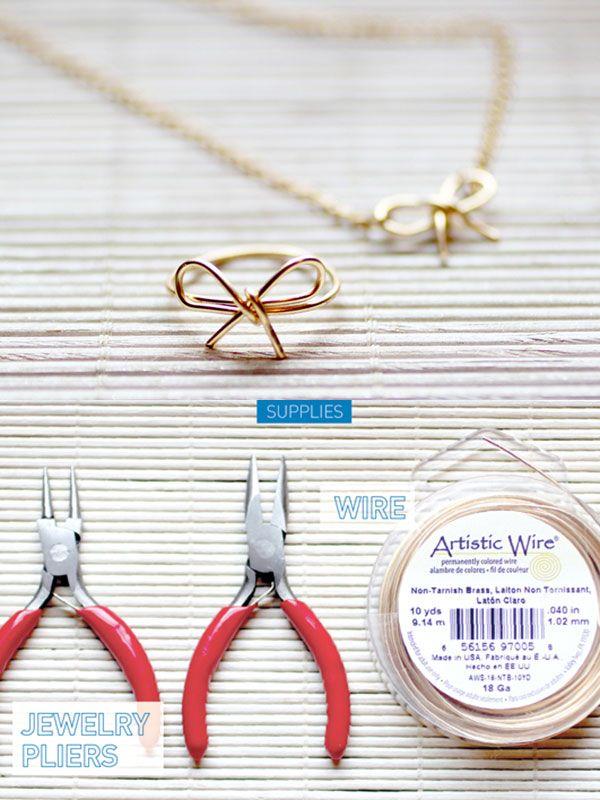 Schleife!! Ring, Kette oder Armband
