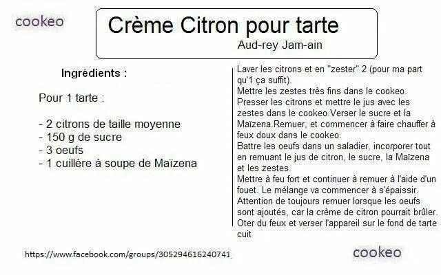Creme cotton pour tarte