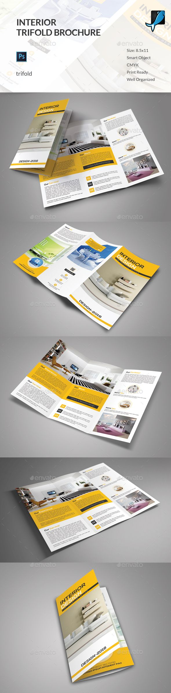 Interior Trifold Brochure - Corporate Brochures