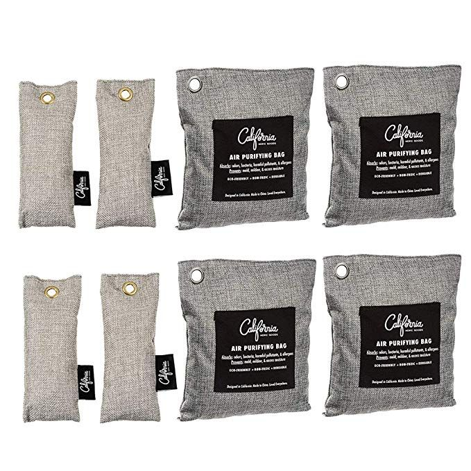 Bamboo Odor Eliminator Bags (8 Pack), Bamboo