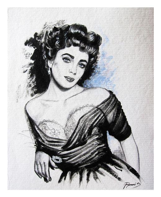 Riccardo_Soloperto/ Liz - Acrylic on paper - 40cmx50cm