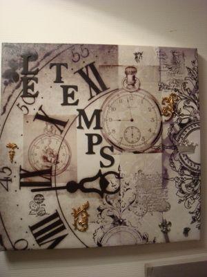 Le temps qui passe... - Tableau temps - Vous aimez créer vos propres tableaux avec le home déco ?