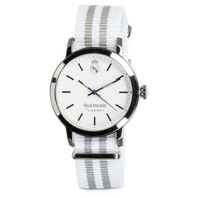 Image of Real Madrid Fashion Stripe Watch - White-Grey