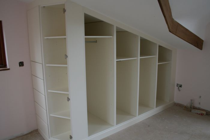 sloped ceiling closet