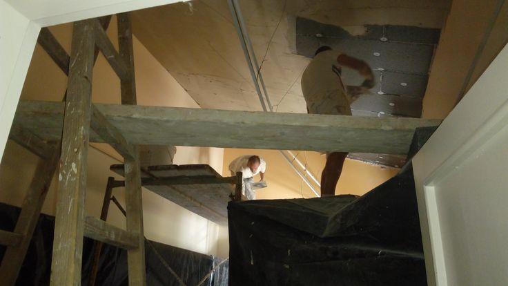 Ενεργειακή αναβάθμιση τέως δημαρχείου Πανοράματος - Εσωτερική θερμομόνωση οροφής κτιρίου με γραφιτούχα διογκωμένη πολυστερίνη. Σύστημα Thermomaster (2015)