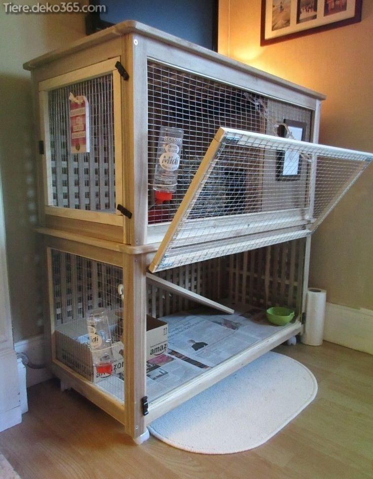 Einzigartiges Und Problemlos Zu Bauendes Kaninchenhaus Kaninchenhaus Kaninchenkafig Kaninchengehege