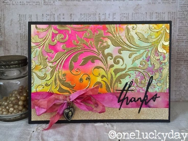 One Lucky Day: Texture Paste Test Run with a beautiful card using Tim Holtz, Ranger, Idea-ology, Sixxiz and Stamper's Anonymous products; Mar 2015