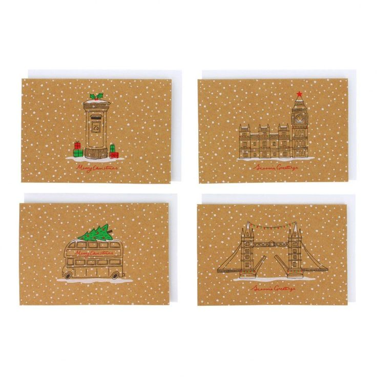London Christmas cards - box of 16