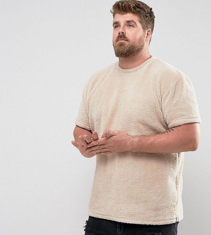 Zeffer PLUS Oversized Borg Teddy Bear T-Shirt - Tan