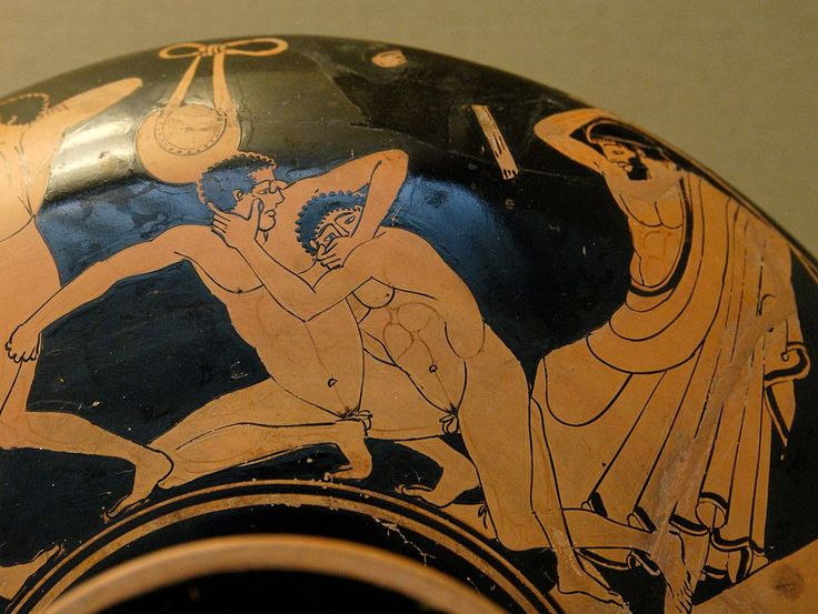 Foul pankration at Kylix by the Foundry Painter BM VaseE78 - Pancrace — Wikipédia