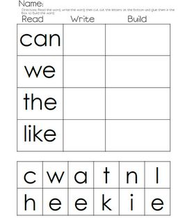 Language Arts / Reading - Read, Write, Build