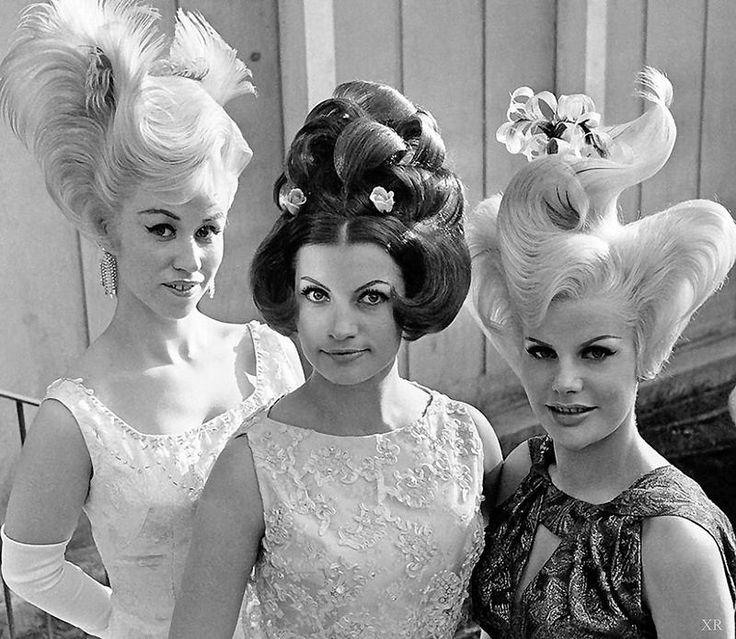 Uh-oh....1964 ... World's Fair hair-dos! 60s wild hair beehive