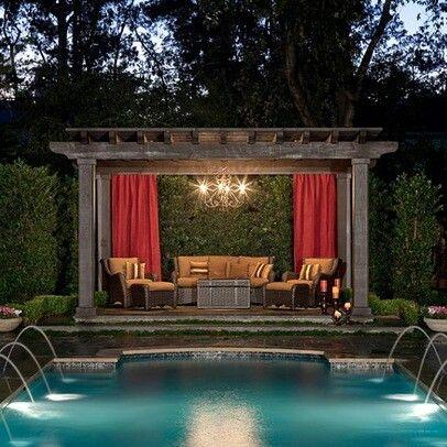 Gazebos by the pool
