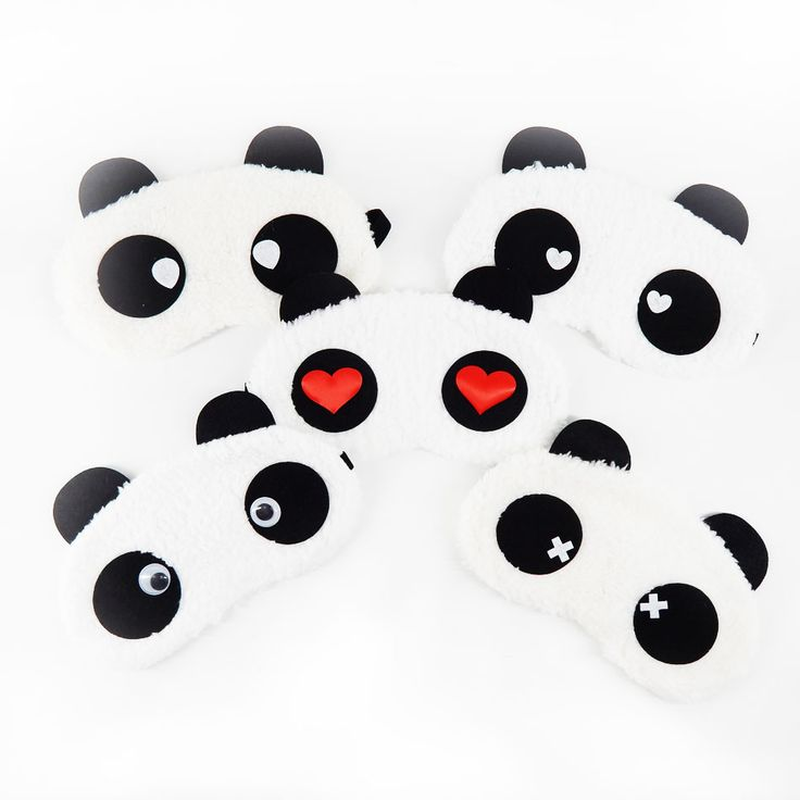Cute Panda Sleeping Eye Mask Nap Cartoon Eye Shade Sleep Mask Black Mask Bandage on Eyes for Sleeping-MSK02