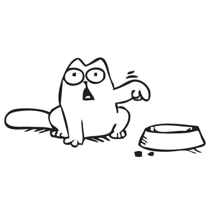 Adhesivo de vinilo de Simon's cat