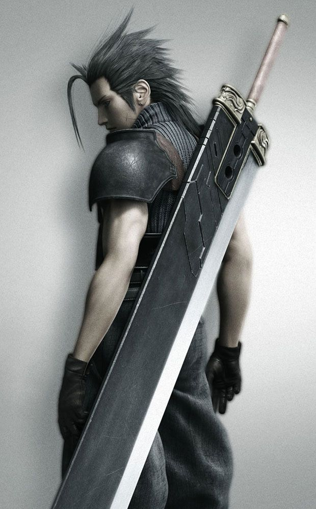 Got this amazing wall scroll of Zack Fair from Crisis Core-Final Fantasy VII, and it's...breathtaking?