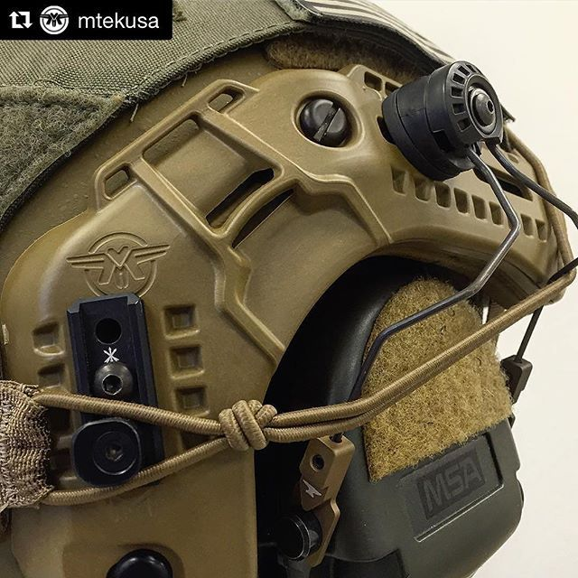 #Repost @mtekusa with @repostapp ・・・ Attach your earpro like a boss using the MARK (Modular Attached Rail Kit) for the FLUX helmet. Coming soon from @unitytactical