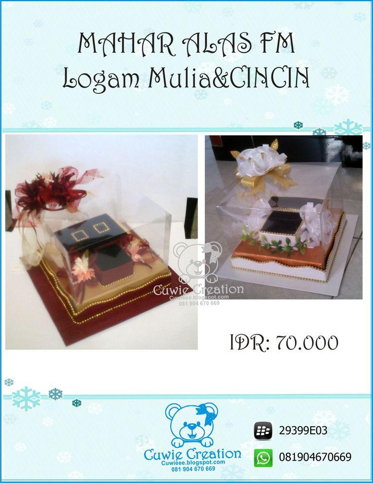 Kotak Mahar Perhiasan Pernikahan  cuwie creation  instagram @cuwiecreation
