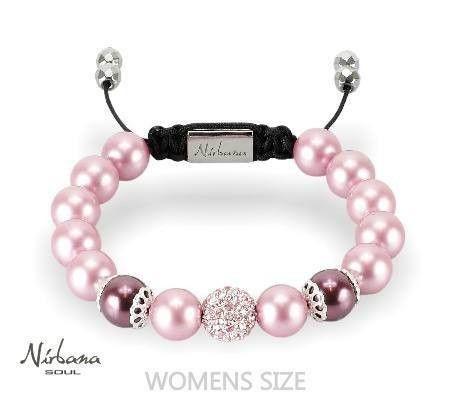 Nirbana Soul - Cicely - Pink Shamballa Swarovski Pearl Bracelet