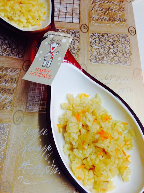 """Risotto all'arancia """"Lovely Time"""""""