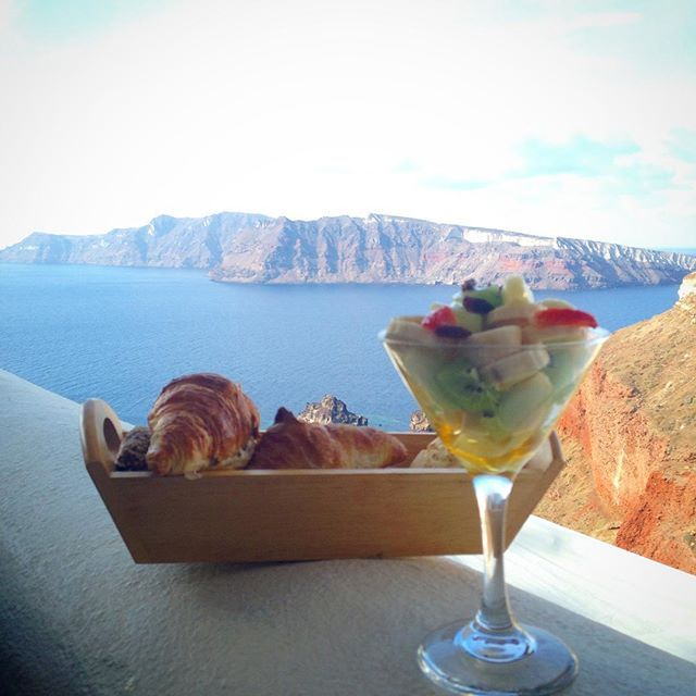 #Breakfast is served in the most unique view! #ArtMaisons #Santorini