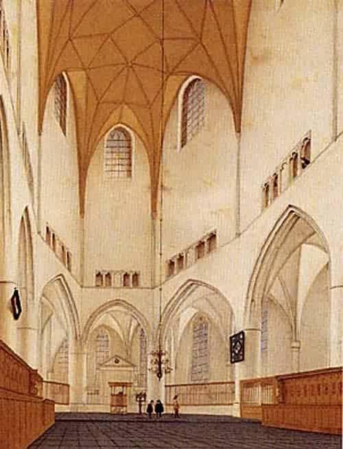 pieter saenredam interior of the church -