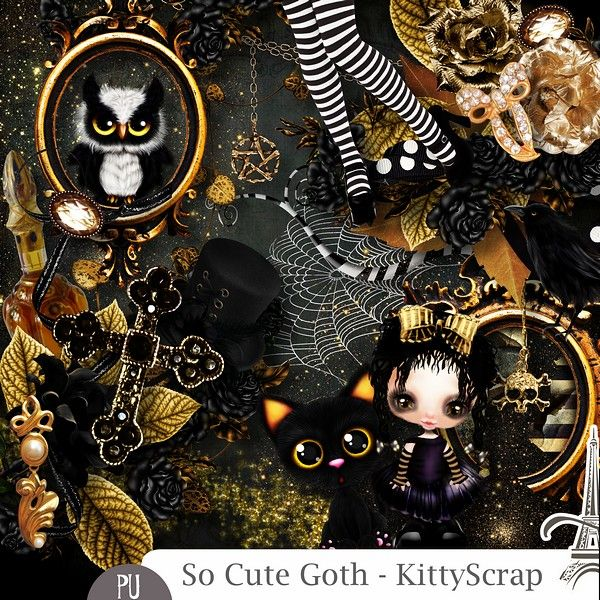 Le Blog de kittyscrap: ESSENTIEL : so cute goth