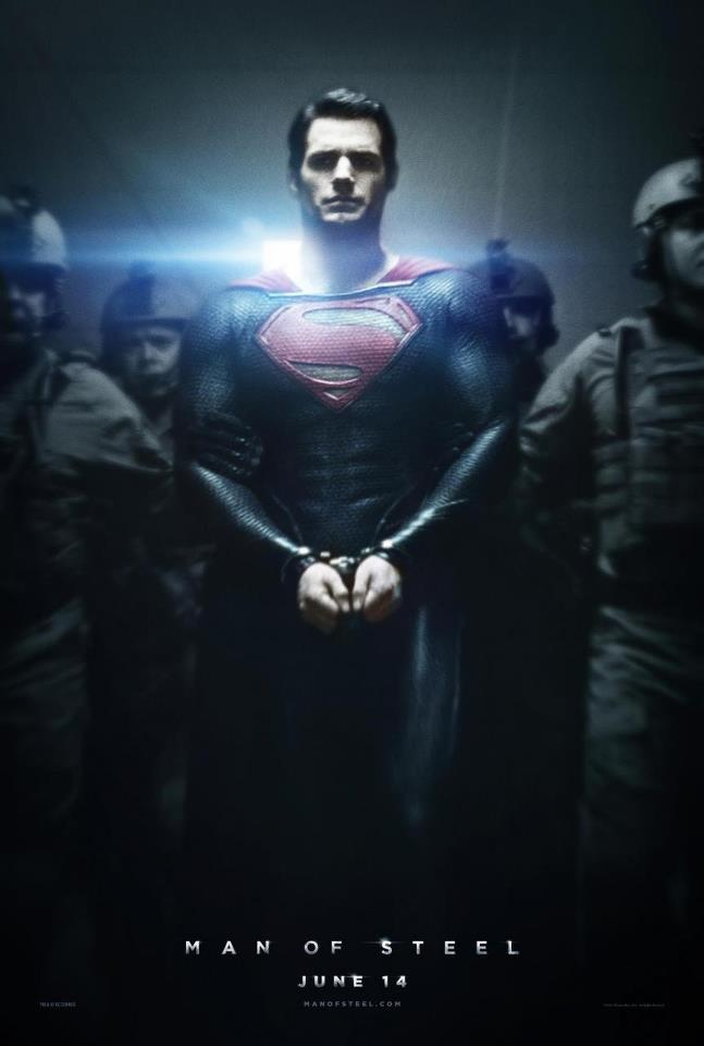 Henry Cavill in cuffs for Superman Man of Steel