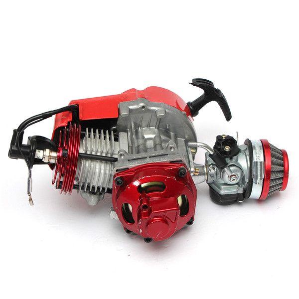 49cc motor de carreras de mini manual de aire minimoto bolsillo rojo enfriado atv bici de la suciedad