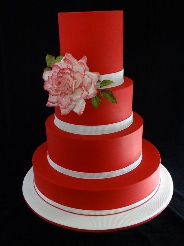 Красно белые свадебные торты - фото 5237625 Арт-кондитер Наталья Татаринова