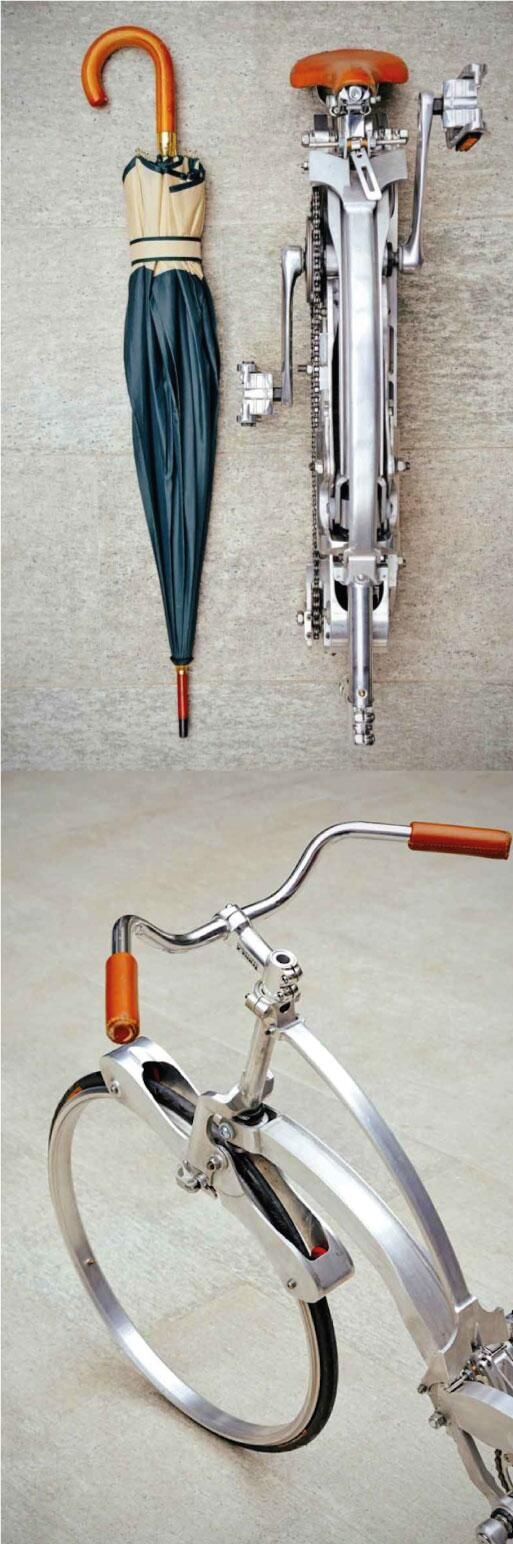 Bicycle designed to fold to a size of an umbrella | Designer: Gianluca Sada