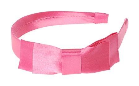 L. Erickson USA Coco Two Tier Headband - 100% Silk Charmeuse Azalea $42.00