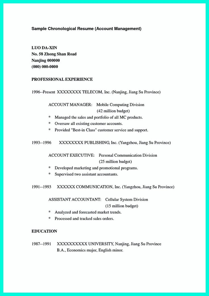 what is standard resume format standard resume template example