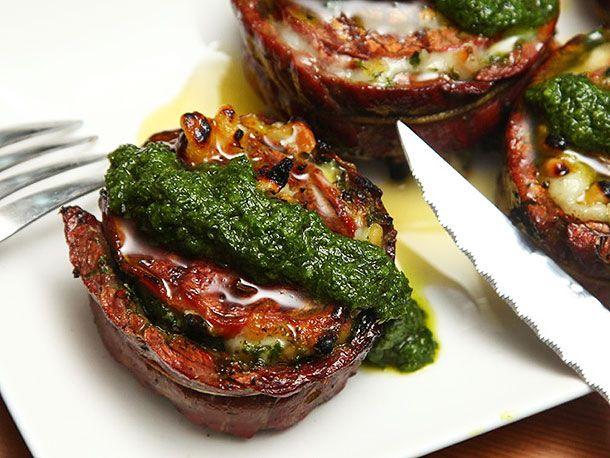Grilled Stuffed Flank Steak With Pesto, Mozzarella, and Prosciutto | Serious Eats : Recipes
