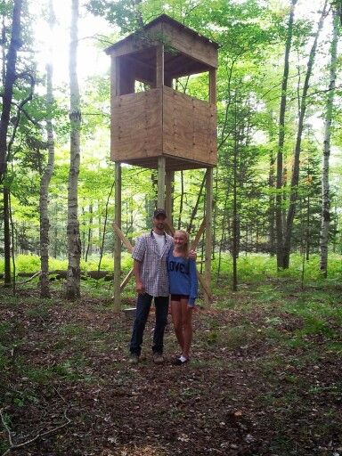 12 best stand images on pinterest deer blinds hunting for Diy hunting tree stand