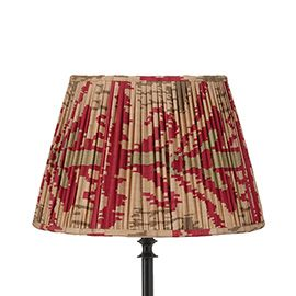 45cm Pleated Madura Silk Empire Lampshade - Red