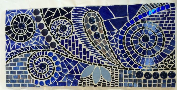Glass tile mosaic. Inspiration from Mosaicdownunder/Inge