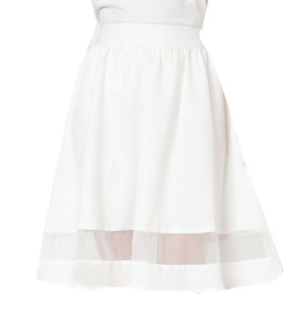 Midi Circle Skirt With Mesh Insert Skirt by Ezra by Zalora. Sweet skirt flare skirt with a touch of a vintage with mesh detail. Polyblend material, back zipper, regular fit, pair this as sweet as candy skirt with white heels for a perfect looks. http://www.zocko.com/z/JFbcd