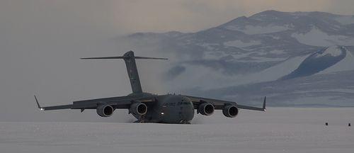 C-17 Landing at Pegasus