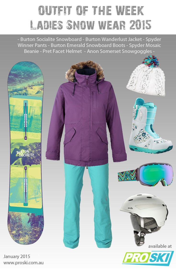 OUTFIT OF THE WEEK - Ladies Snow Wear 2015 available at PROSKI www.proski.com.au #snowtrends #snowgear #snowfashion #oufitoftheweek #burton #spyder #anon #pretty