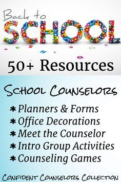 Back to School Resources for School Counselors from School Counselors