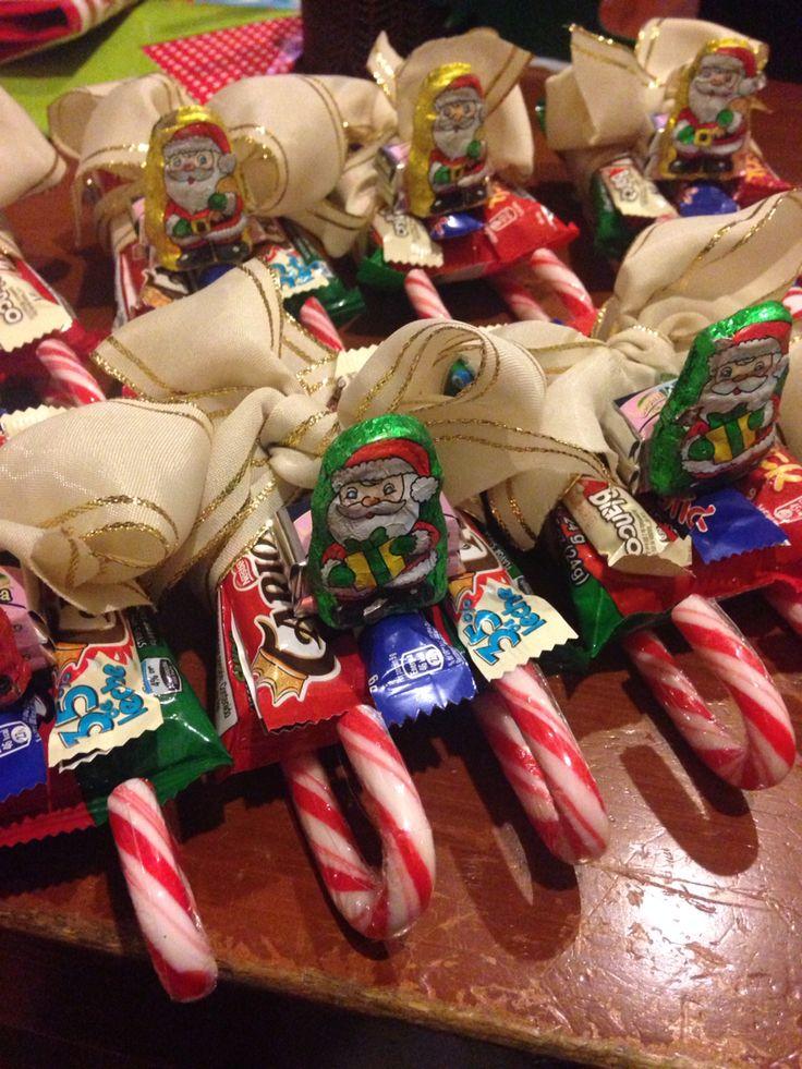 Maco brunet - diy - trineo de santa de dulces - candy cane