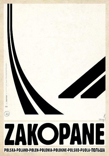 Ryszard Kaja: poster for Zakopane, a town with a famous ski jump