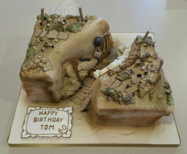 World War One Trench Birthday Cake School Army