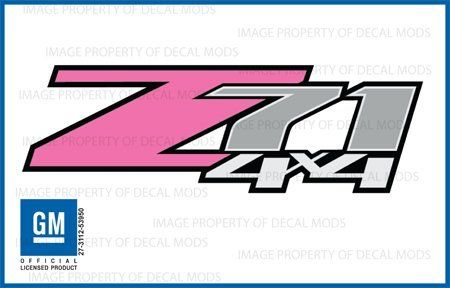 Chevy Silverado Z71 PINK 4x4 decals stickers - FP (2007-2013) bed side 1500 2500 HD (set of 2), http://www.amazon.com/dp/B008AP8TFA/ref=cm_sw_r_pi_awd_wRmlsb063E46S